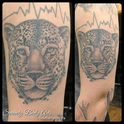 Healed Jaguar Tattoo