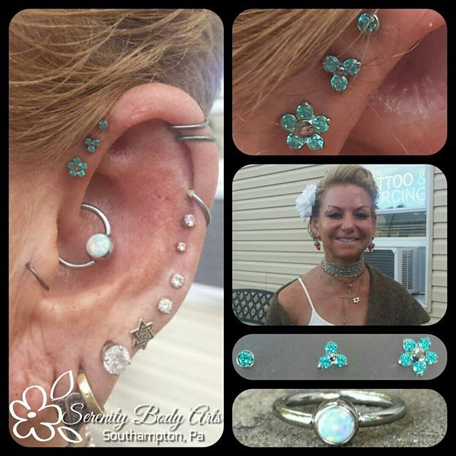 Triple Forward Helix & Daith