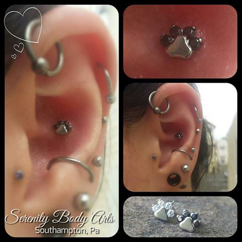 Healed Conch Piercing