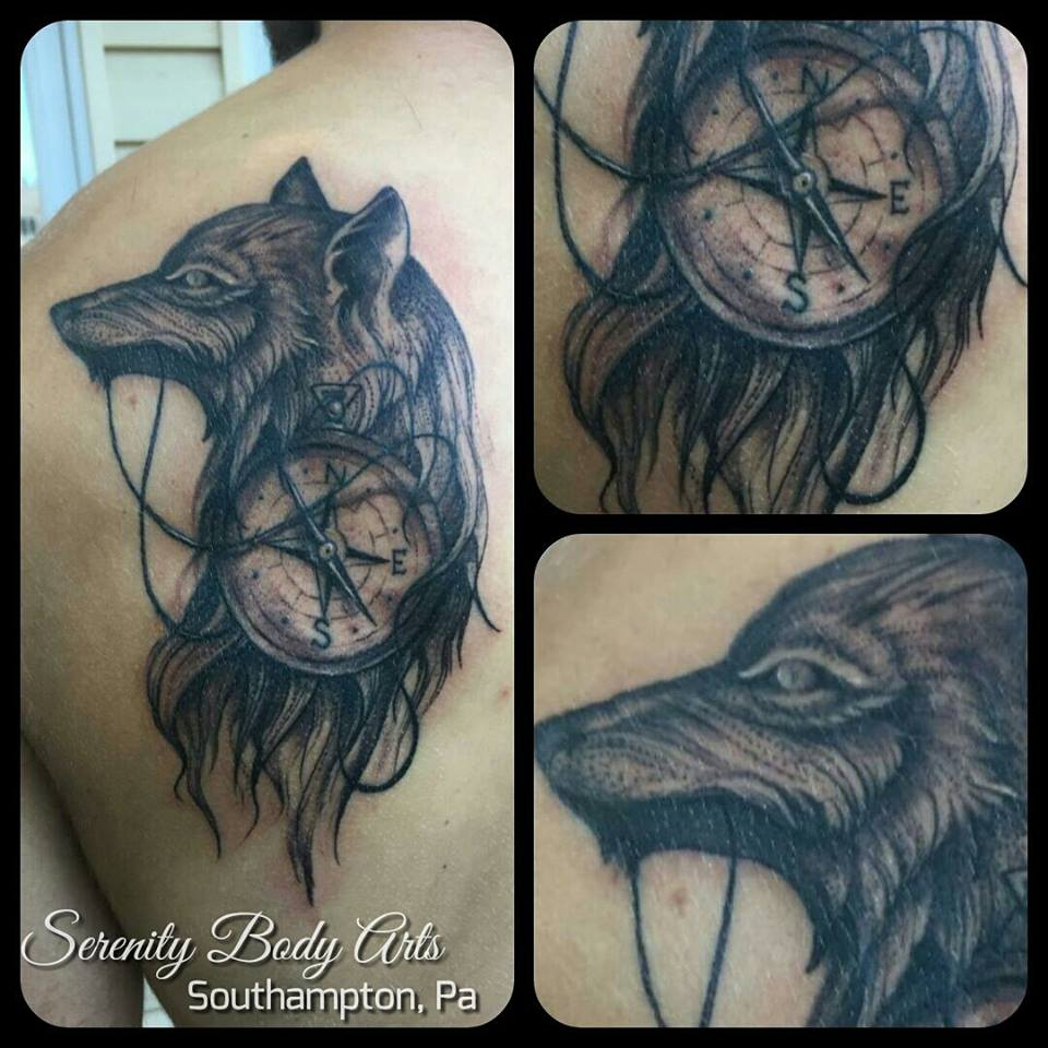 Wolf with Compass