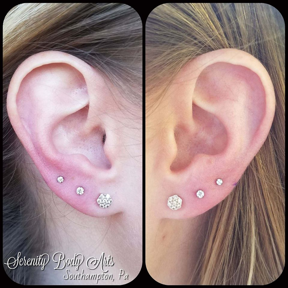 Second and Third Lobe Piercings
