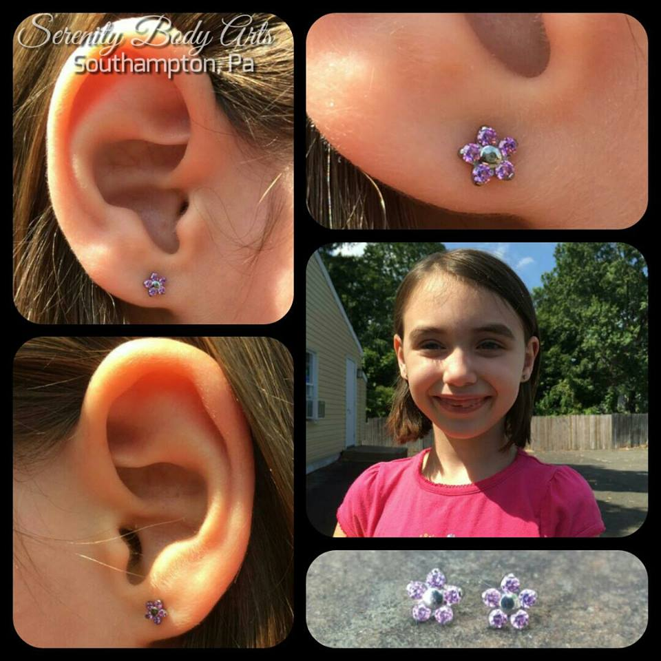 Child Ear Piercings