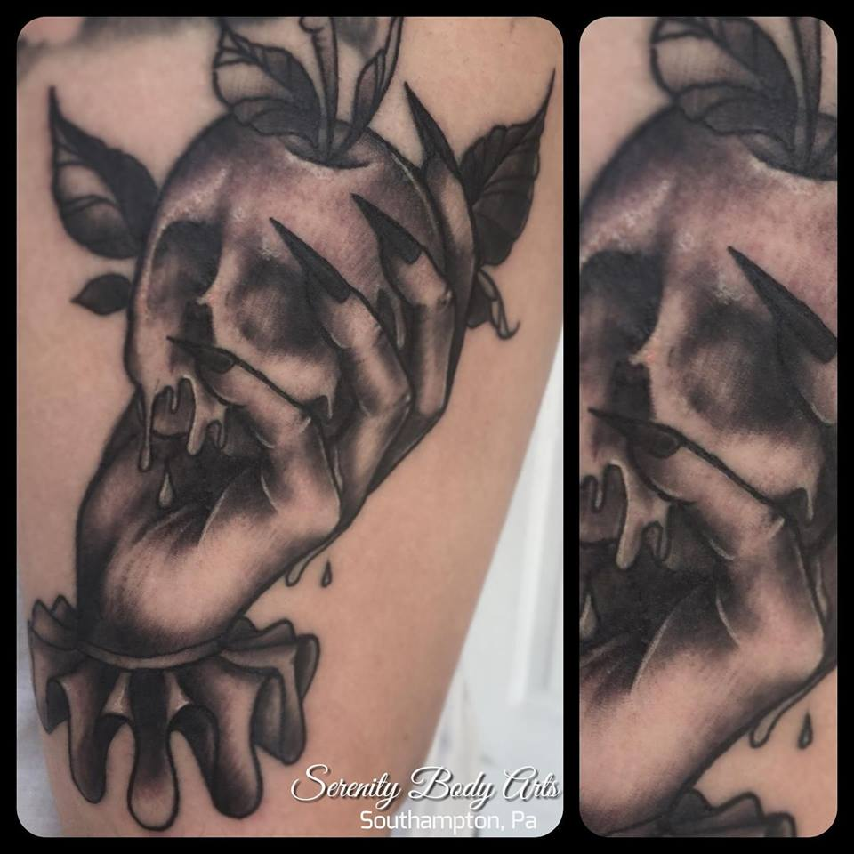 Witch Hand holding Poison Apple