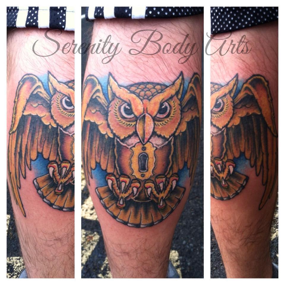 Owl with keyhole