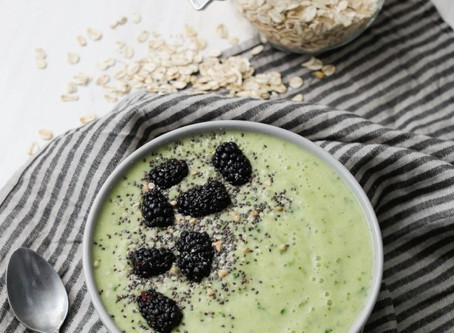 Green Oat Smoothie Bowl