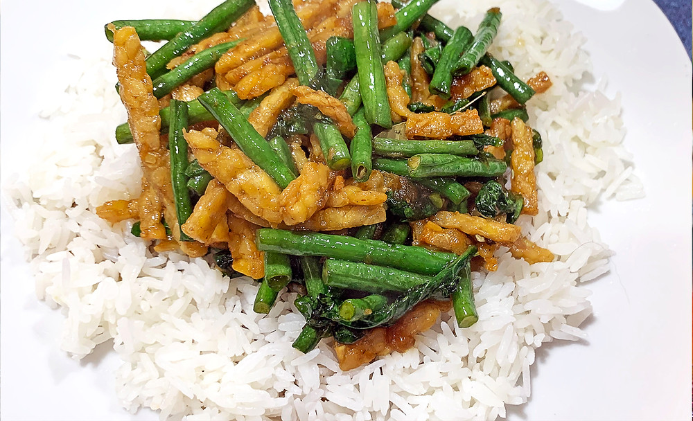 Sweet & Spicy Tempeh and Long Bean Recipe