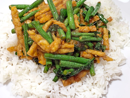 Sweet & Spicy Tempeh and Long Bean