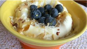 Blueberry and Coconut Ricotta Rice Bowl