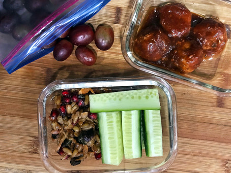 Packed Lunch: Turkey Meatballs & Khorasan Salad