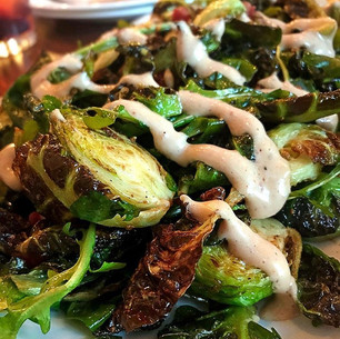 Charred Brussel Sprouts With Spicy Aioli