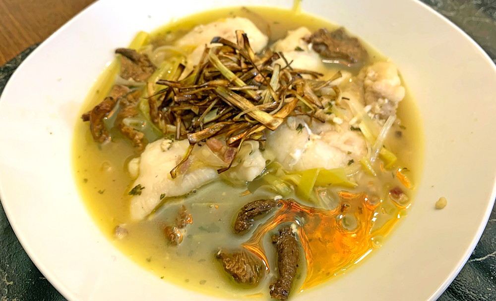 Cod Cheeks Poached In Mussel Broth Recipe
