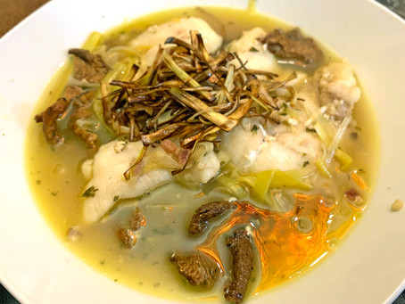 Cod Cheeks Poached In Mussel Broth
