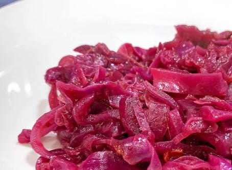 Cranberry Sauce Braised Cabbage