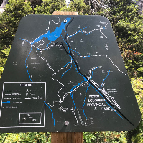 About one hour down the Watridge Trail, you'll see a road fork to the left at the same place you run into this sign. Follow that road down for roughly 5min., and you'll then see a path to your right. This will take you to a little viewpoint of Watridge Lake.