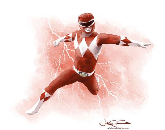 Power Rangers Watercolor