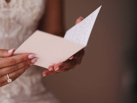 Melt your partner's heart by writing a letter on your wedding day.