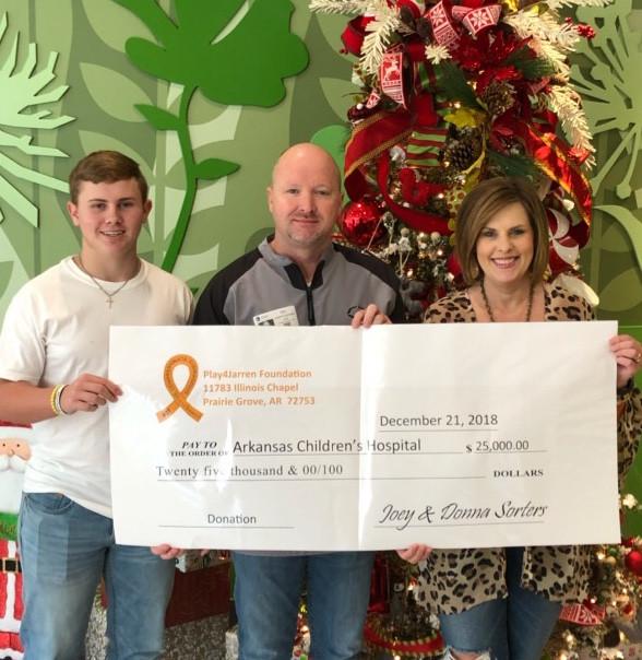 25,000 to Arkansas Children's Hospital