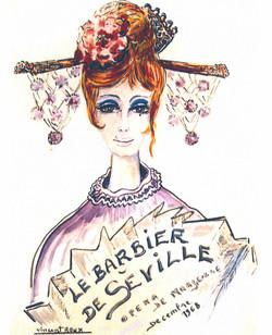 """Affiche """"Le Barbier de Seville"""""""
