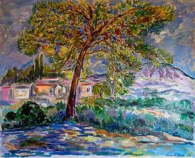 Sainte Victoire (huile sur toile, 1990)