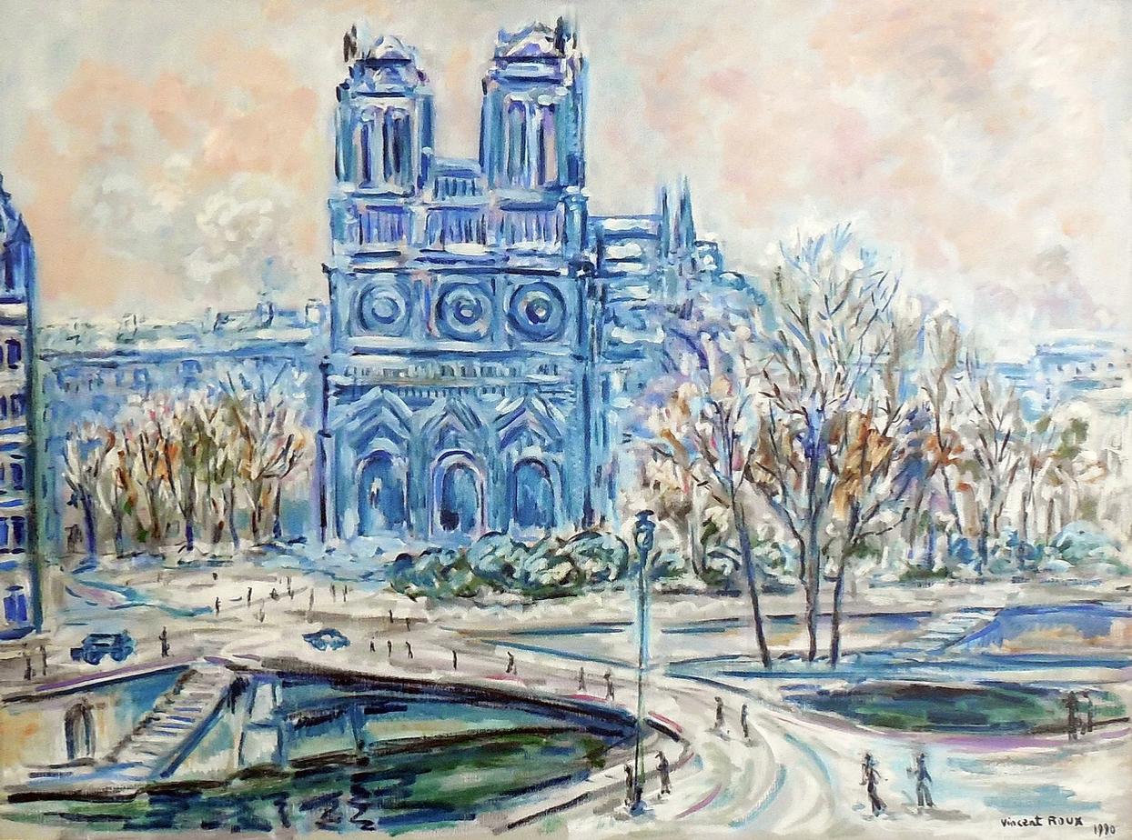 Notre Dame de Paris sous la neige