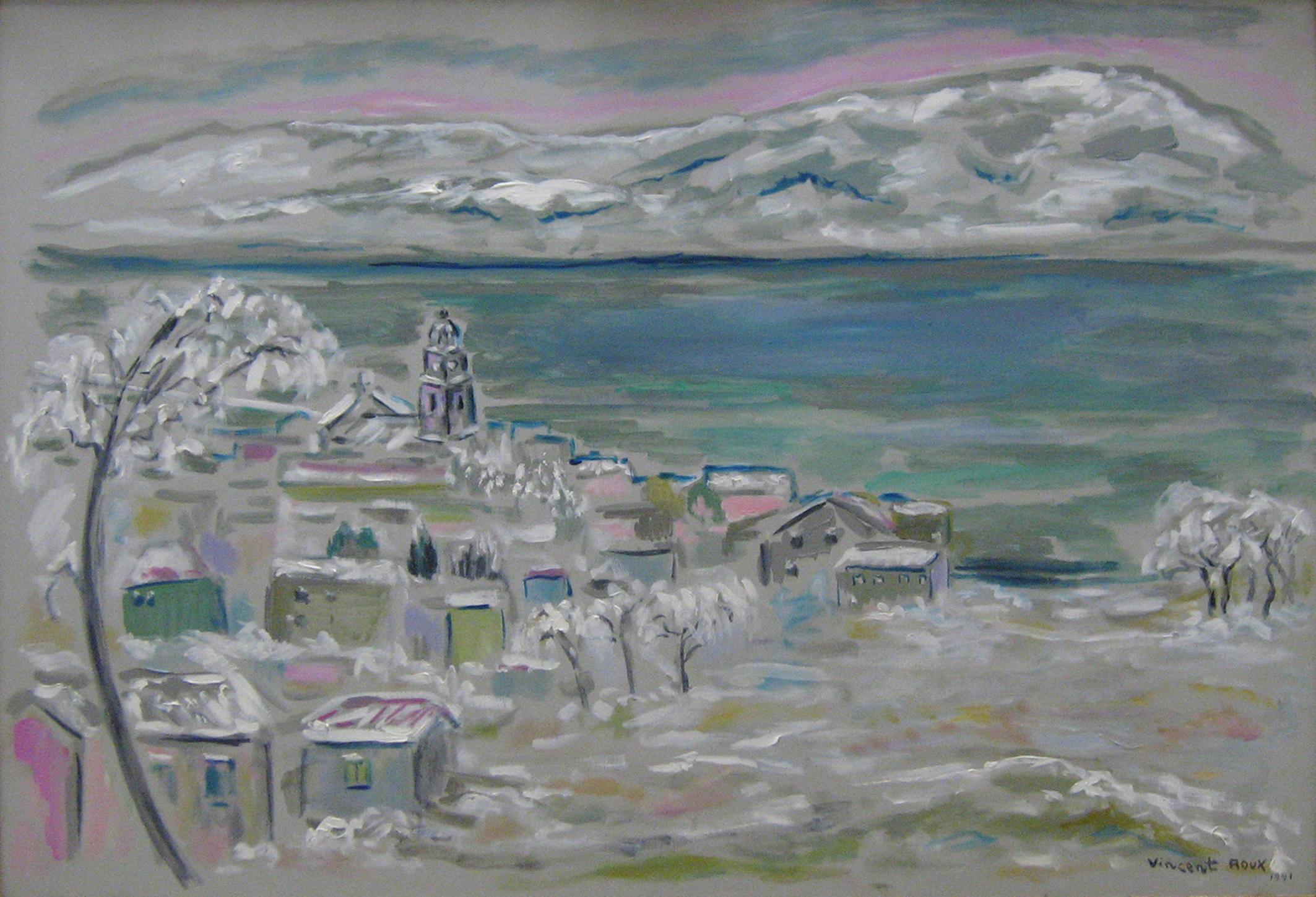Saint-Tropez sous la neige