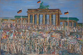 La porte de Brandebourg (huile sur toile, 1990)