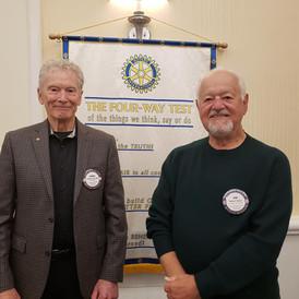 Robert Huber with Dennis