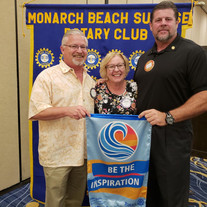 BIG Dave and city manager, Mike Killibbrew, with one of our speakers