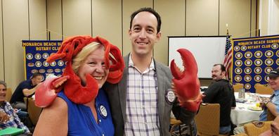 Brandon Wise preparing for Lobster Fest