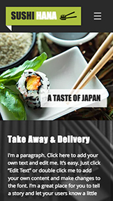 Restaurace a jídlo website templates – Sushi restaurace