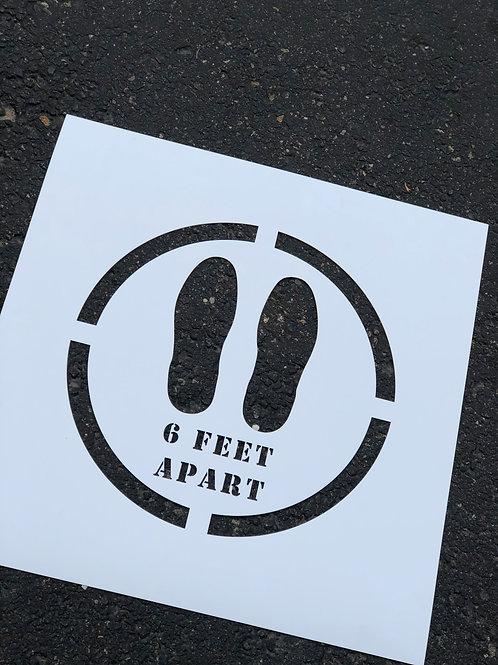 Social Distance Stencil
