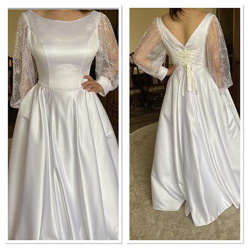 Свадебное платье Шарлиз атлас