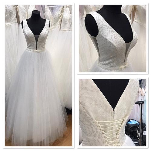 Свадебное платье Полина юбка блеск
