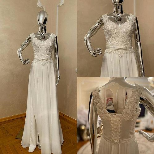 Свадебное платье Августина 1 мультишифон с разрезом
