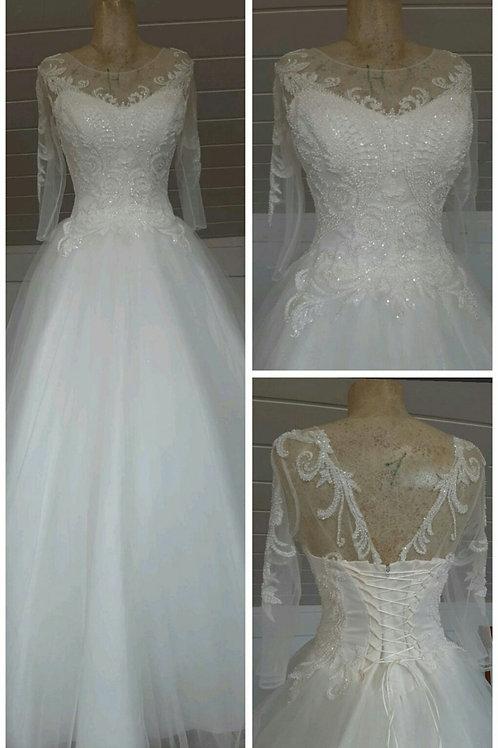 Свадебное платье Италия юбка блеск