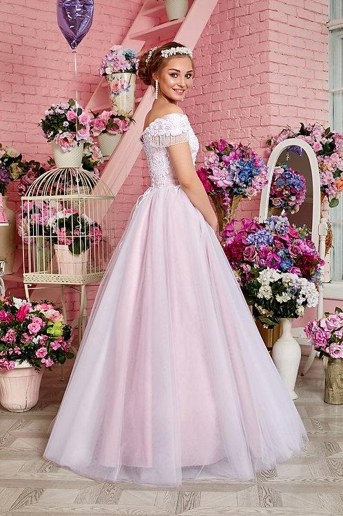 Свадебное платье Ревекка хрусталь