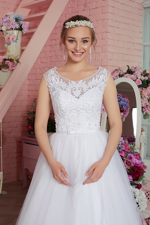 Свадебное платье Мадонна хрусталь