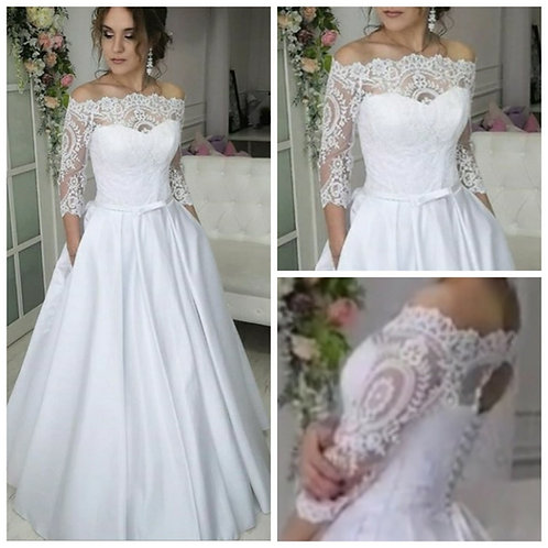 Свадебное платье Кристина атлас
