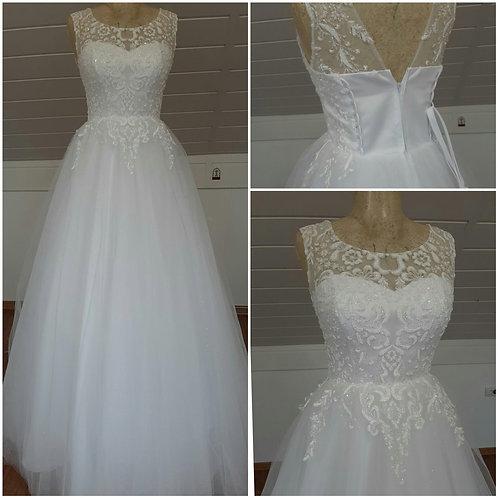 Свадебное платье ВВ2123 светоотражающее кружево юбка блеск