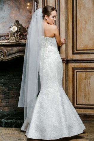 Фата невесты со стеклярусом