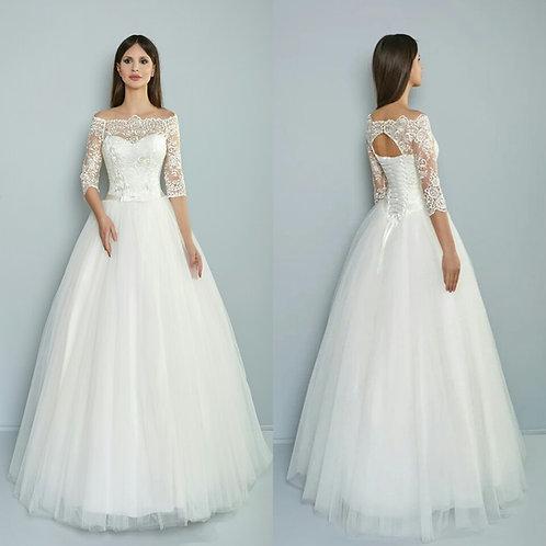 Свадебное платье Ассоль 3/4 рукав
