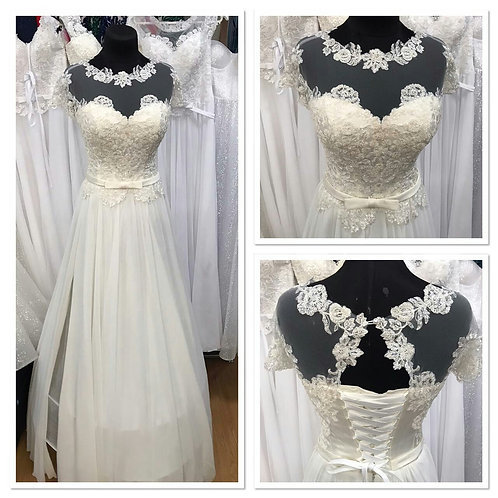 Свадебное платье Августина 3 мультишифон С РАЗРЕЗОМ