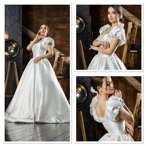 Свадебное платье Словения атлас