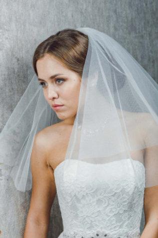 Фата невесты обрезная