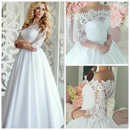 Свадебное платье Алинка 3 атлас