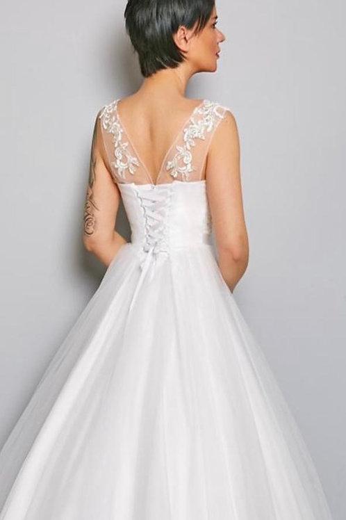 Свадебное платье Машенька со светоотражающим кружевом