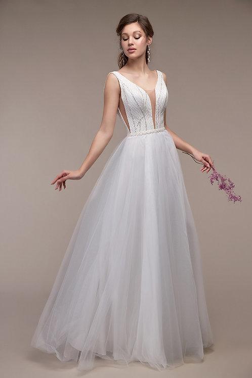 Свадебное платье Лея(лиф глитер-блеск) ОХ