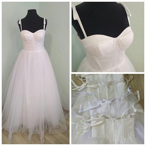 Свадебное платье ВВ2119 (юбка легкий блеск)