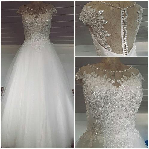 Свадебное платье Азиза майка юбка блеск