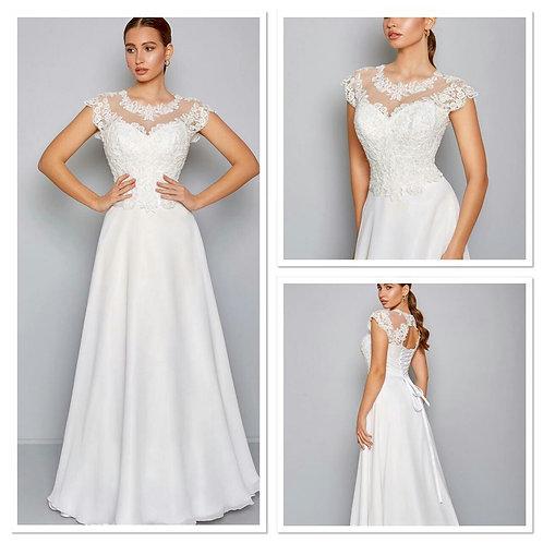 Свадебное платье Августина 3 мультишифон